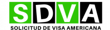 Logo cu solicitud de visa americana